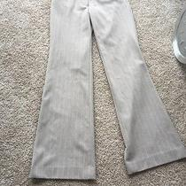 Express Taupe/white Striped Dress Pants 00r Photo