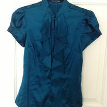 Express Teal Blue Silk Blouse Sz Xs Photo