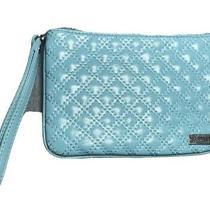 Express Teal Wristlet Makeup Bag Patent Leather Handbag Wallet Shiny Photo