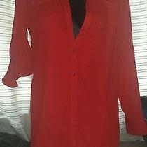 Express the Portofino Shirt Dress Red Womens Size Small New Photo