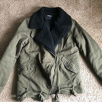 Express Thick Winter Coat Womens Size Xs Khaki Photo