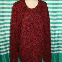 Express Thick Winter Sweater Red Black Xl Acrylic Wool Blend  Photo