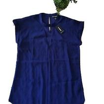 Express Top Blouse Blue Small Photo