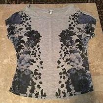 Express Top Size Xs Sparkly Flowers  Photo