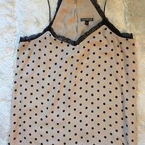 Express Top Sz M Summer Blush Black Polka Dot Lace Photo