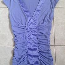 Express Top v Neck Purple Top Size Xs Photo