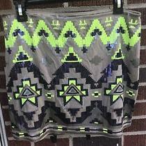 Express Tribal Mini Sequin Skirt Sz M Photo