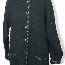 Express Tricot Wool Black Sweater Size Small Photo