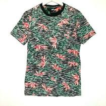 Express Tropical Flower Short Sleeve Tee Tshirt Green Black Size Small S Mens Photo