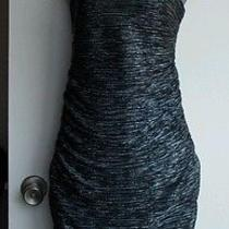 Express Tube Dress Size M Black Silver Photo