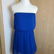 Express Tube Top Blue Dress Small Photo
