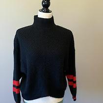Express - Turtleneck - Wool Blend - Black Sweater - Size Xs Photo
