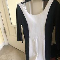 Express Tuxedo Sheath Dress Back and White Extra Small Xs Photo