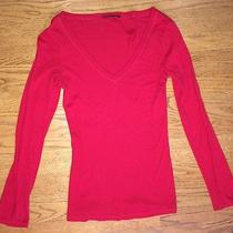 Express v-Neck Red Long Sleeve Size L Photo