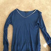 Express v Neck Shirt Blue Xsmall Photo
