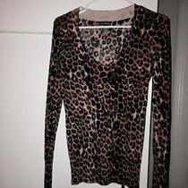 Express v Neck Sweater Leopard Small Photo