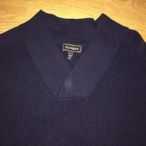 Express v-Neck Sweater Men's Size L Photo