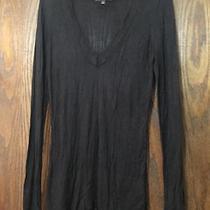 Express v-Neck Sweater  Size L Black Photo