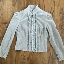 Express Vintage Inspired Jacket Patch Emellishments Zipper Detail Womens Sz. 2  Photo