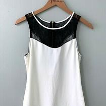 Express White Black Lace Sleeveless Tank Top Size Small S Photo