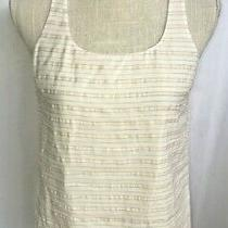 Express White & Blush Pink Stripe Racerback Tank Top Blouse Size Xs Nwt 39.90 Photo