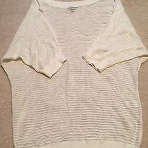 Express White Crochet Knit Dolman Sleeve Top - Xsmall Photo