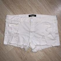 Express White Distressed Shorts Size 16 Photo