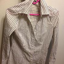 Express White Dress Striped Shirt Photo