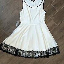 Express White Dress With Black Lace Size 6 New With Tags Photo