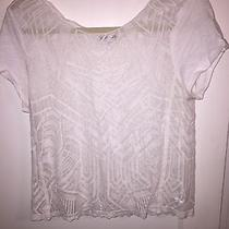 Express White Lace Crop Top Size Medium Photo