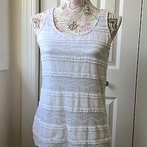 Express White Lace Tank Top Size Small Photo