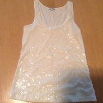 Express White Sequence Blouse Medium Photo