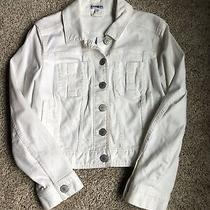 Express White Short Denim Jacket Size S Photo