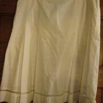 Express White Skirt Size 10 100% Cotton Photo