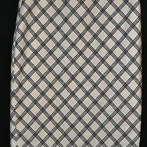 Express White Skirt With Black Diagonal Design Size 8 Photo