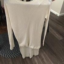 Express White Sweater Womens Small  Photo
