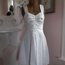 Express White Sweetheart Neckline Sun Dress 6 Nwot Photo