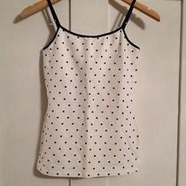 Express White With Black Polka Dots Bra Cami Size M Photo