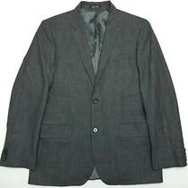 Express Windowpane Sport Coat/blazer - Gray - 40r Photo