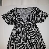 Express Woman Dress Black & White Size Xs Photo