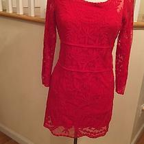 Express Woman Dress Red Perfect Fall Size M Elegant Photo