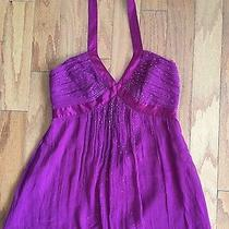 Express Woman's Size 6 Pink/purple Sequin Halter Top Photo