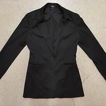 Express Woman Women Single Button Black Blazer Sports Coat Jacket Size 10 Photo