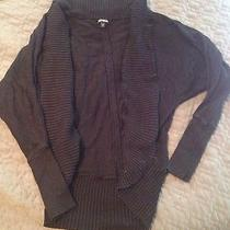 Express Womans Black Cardigan Sweater Dolman Sleeve Small Gently Worn Photo