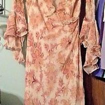Express Womans  Floral Ruffle Dress  Size Junior 7/8 Photo