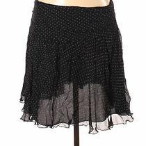 Express Women Black Silk Skirt 8 Photo