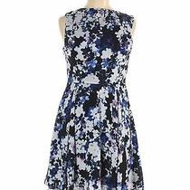 Express Women Blue Casual Dress 6 Photo