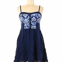 Express Women Blue Casual Dress M Photo