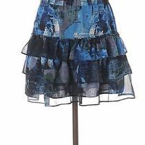 Express Women Blue Casual Skirt S Photo