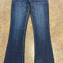 Express Women Blue Dark Wash Casual Low Rise Flared Denim Jeans Size 0r Photo